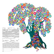Tree Of Life III Ketubah by Ruth Rudin
