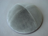 Light Grey Velvet Kippah