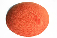 Orange Knit Kippah