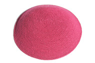 Hot Pink Knit Kippah