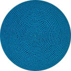 Teal Knit Kippah
