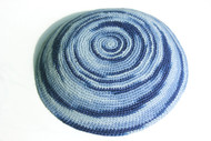 Blue Swirl Knit Kippah