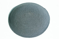 Medium Grey Knit Kippah