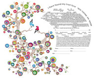 Love Birds Ketubah by Ruth Rudin