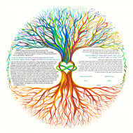 A Tree of Life 2 Ketubah by Nava Shoham