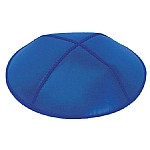 Royal Blue Leather Kippahs