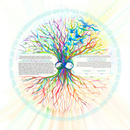 A Tree of Life Peace & Love Ketubah