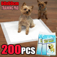 200 PCS Puppy Pet Dog Cat Training Pads 60x60cm Super Absorbent Wee Loo Toilet Kit