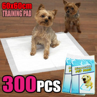 300 PCS Puppy Pet Dog Cat Training Pads 60x60cm Super Absorbent Wee Loo Toilet Kit