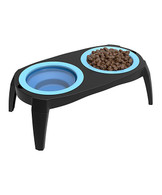 Collapsible Pet Bowl Raised Feeder Portable Traveling Food Water Dishes Dog&Cat