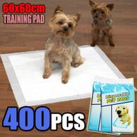 400 PCS Puppy Pet Dog Cat Training Pads 60x60cm Super Absorbent Wee Loo Toilet Kit
