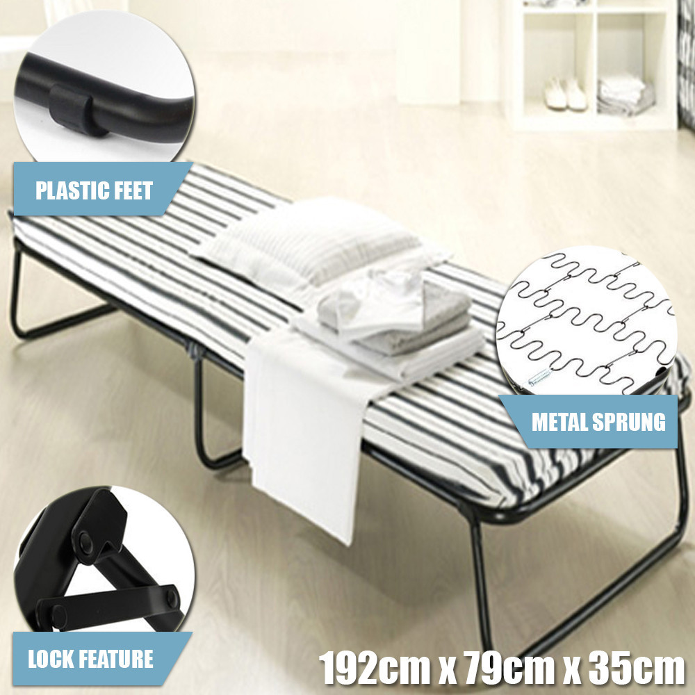 Single Size Portable Deluxe Folding Bed With Mattress For