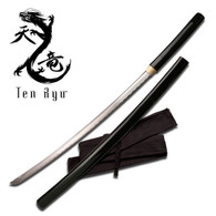 Ten Ryu SHIRASAYA SWORD (Black Wood)