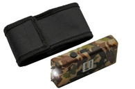 4' KWIK FORCE CAMO STUN GUN W/ BUILT IN CHARGER