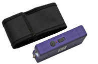4' KWIK FORCE PURPLE STUN GUN W/ BUILT IN CHARGER