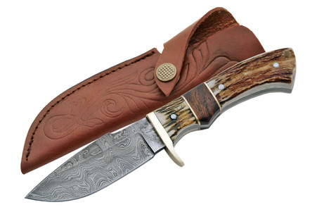 "9"" DAMASCUS GAME SKINNER KNIVE"