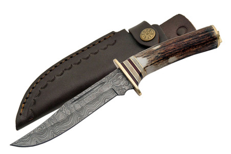 "EL DORADO 10 1/4"" DAMASCUS HUNTER KNIVE"