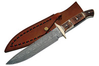 "13"" THE PLAINSMAN DAMASCUS BOWIE KNIVE"