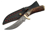 "MOUNTAIN 10"" DAMASCUS HUNTER  KNIVE"