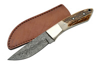 "STAG 8"" DAMASCUS CLIP POINT HUNTER"