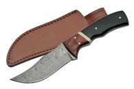 "BUFFALO 8"" DAMASCUS SKINNER HORN HANDLE"
