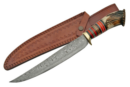 """UPSWEEP CROWN 15.5"""" DAMASCUS BOWIE"""
