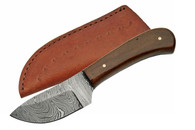 "6"" DAMASCUS SKINNER WITH WALNUT HANDLE"