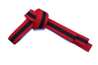 Red Karate Belt with Black Stripe