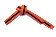 Orange Karate Belt with Black Stipe