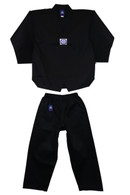 Ribbed Taekwondo Black Uniform