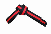 Karate Belt with Red Stripe