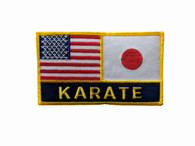 USA & Japan Flags/Karate Patch