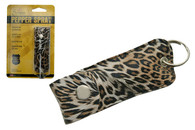 PEPPER SPRAY WITH CHEETAH PRINT KEY CHAIN HOLSTER