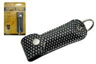 PEPPER SPRAY WITH BLACK BLING KEY CHAIN HOLSTER