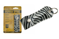 BLACK/SILVER ZEBRA PRINT PEPPER SPRAY