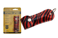 RED/BLACK ZEBRA PRINT PEPPER SPRAY