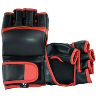 MMA STRIKE GLOVES VINYL (Black Red)