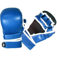 SPARRING GLOVES VINYL (BLUE)