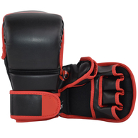 SPARRING GLOVES VINYL (BLACK AND RED)