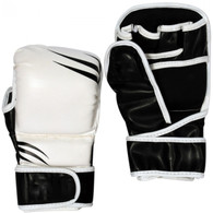 MMA SPARRING GLOVES (BLACK AND WHITE)