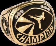 Gold Martial Arts Champion Ring