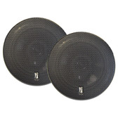 "Poly-Planar 6"" Titanium Series 3-Way Marine Speakers - (Pair) Black"
