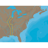 C-MAP NT+ NA-C047 - Inland Circle Route: Chicago to Mobile - C-Card