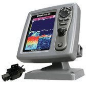 SI-TEX CVS-126 Dual Frequency Color Echo Sounder w/Transom Mount Triducer 250/50/200ST-CX