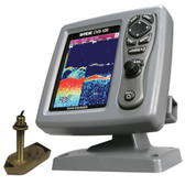 SI-TEX CVS-126 Dual Frequency Color Echo Sounder w/600kW Thru-Hull Tranducer 307/50/200T-CX
