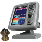 SI-TEX CVS-126 Dual Frequency Color Echo Sounder w/B60 20 Transducer B-60-20-CX
