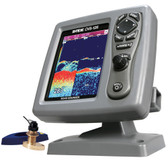SI-TEX CVS-126 Dual Frequency Color Echo Sounder w/B744V Thru-Hull Transducer