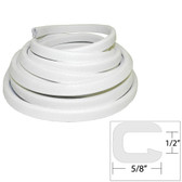 "TACO Flexible Vinyl Trim - 1/2"" Opening x ""W x 25'L - White"