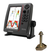 SI-TEX SVS-760 Dual Frequency Sounder 600W Kit w/Bronze Thru-Hull Temp Transducer - 1700/50/200T-CX