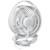 "Caframo Maestro 12V 3-Speed 6"" Marine Fan w/LED Light - White"